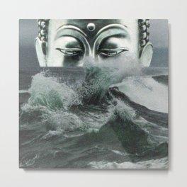 Buddha in the sea Metal Print