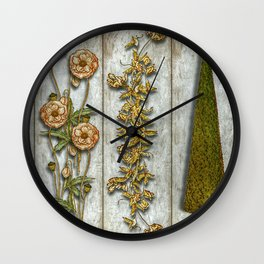 Flowers and Shrub Wall Clock