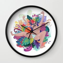 Singing in the spring  Wall Clock