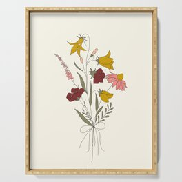 Wildflowers Bouquet Serving Tray