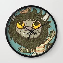An Ode To Wild Things Wall Clock