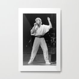 Bucks Fizz and prints Mike Nolan singing on stage posters Metal Print