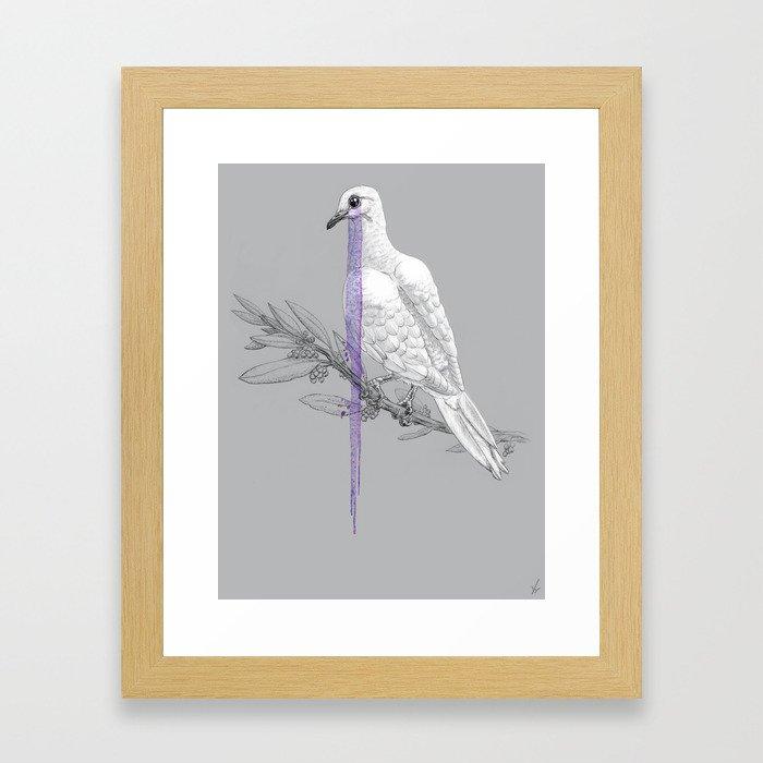When Doves Cry Framed Art Print
