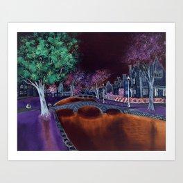 Bourton at night II Art Print