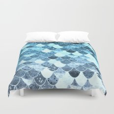 REALLY MERMAID SILVER BLUE Duvet Cover