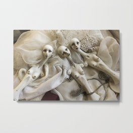 Porcelain dolls in progress Metal Print
