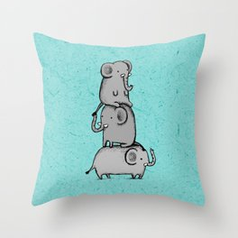 Elephant Totem Throw Pillow