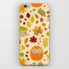 Hedghogs and Chestnuts iPhone Skin