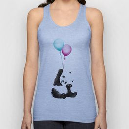 Panda With Baloons Unisex Tank Top