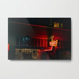 Neon Bar - Livingston, MT Metal Print