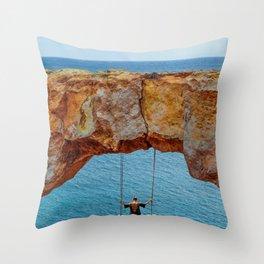 Wander Woman Rock Swing Throw Pillow