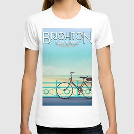 Brighton, East Sussex vintage travel poster. T-shirt