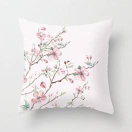 Apple Blossom Pink #society6 #buyart Throw Pillow