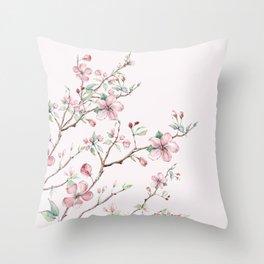 Apple Blossom Pink #society6 #buyart Throw Pillow