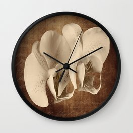 Vintage Flowers Digital Collage 21 Wall Clock