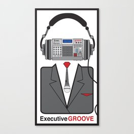 Executive Groove Sampler-Head Canvas Print