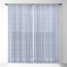 leopard Kitty - light denim Sheer Curtain