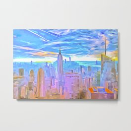 Manhattan Pop Art Metal Print