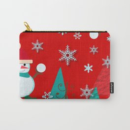 Snowman red Carry-All Pouch