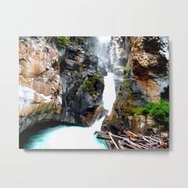 Falls Johnston Canyon Alberta Metal Print