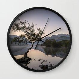 Tree at Llyn Padarn V Wall Clock
