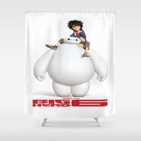 big hero 6 Shower Curtains featuring Big Hero 6 Best Picture by giftstore2u