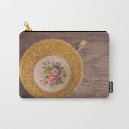 Gold Teacup Carry-All Pouch
