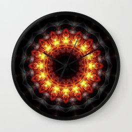 Mandala burning heat Wall Clock