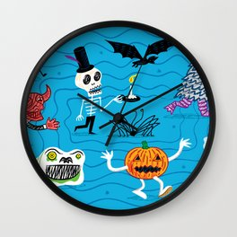 The Halloween Parade Wall Clock