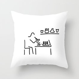 laboratory assistant lab Throw Pillow