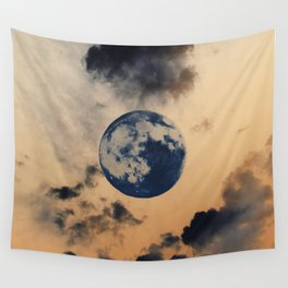 Moon Clouds Wall Tapestry