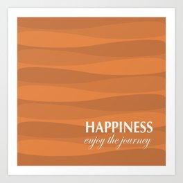 Orange for Happiness Art Print