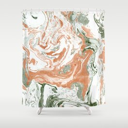 Marble of autumn Shower Curtain