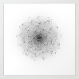 Wireframe Composition No. 22 Art Print