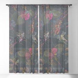 Fall in Love #buyart #floral Sheer Curtain