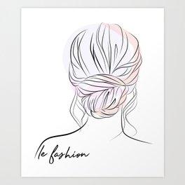 Chignon #2 Art Print