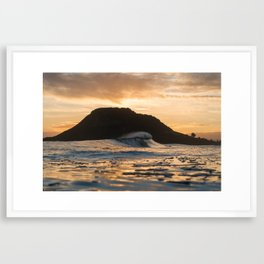 Matakana Gold Framed Art Print