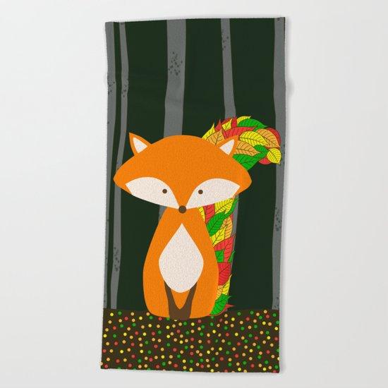 Nursery Autumn FOX Beach Towel
