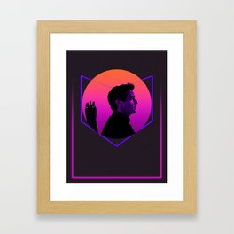 Hawk-eye 80's Alternative Character Poster Framed Art Print