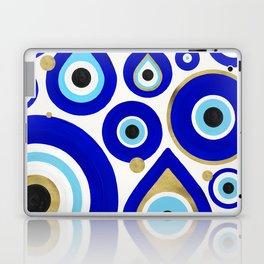Evil Eye Charms on White Laptop & iPad Skin