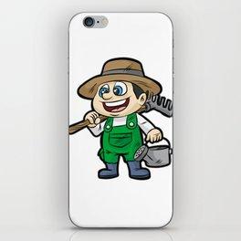 Happy GARDENER WITH TOOLS Gardening Cartoon Gift iPhone Skin