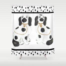 Staffordshire Dog Figurines No. 1 Shower Curtain