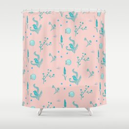 Design Based in Reality Pink Shower Curtain