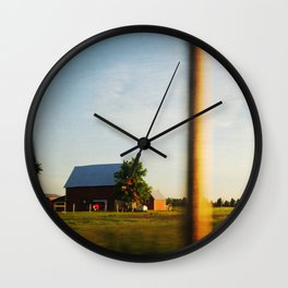 Midwest Red Barn Wall Clock