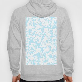 Spots - White and Light Blue Hoody