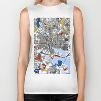 baltimore Biker Tanks featuring Baltimore  by Mondrian Maps