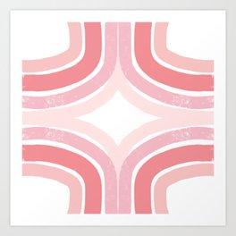 Pink Borderline Art Print