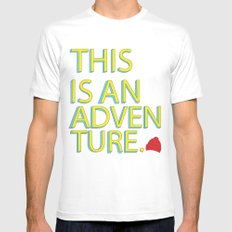 This Is An Adventure LARGE White Mens Fitted Tee