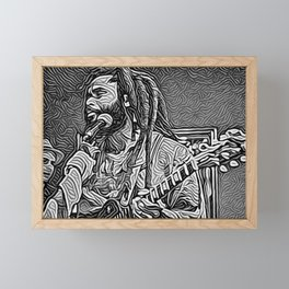Dreadlock Rasta Framed Mini Art Print