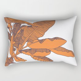 Banana Leaf Print Rectangular Pillow